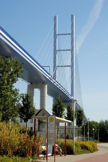 Stock Photo: 1848-91572 Ruegenbruecke, new bridge connecting the city of Stralsund and the island Ruegen, Rugia, Mecklenburg_Western Pomerania, Germany
