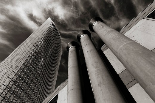 Stock Photo: 1848-91880 Pollux Tower in the financial district, Frankfurt, Hesse, Germany
