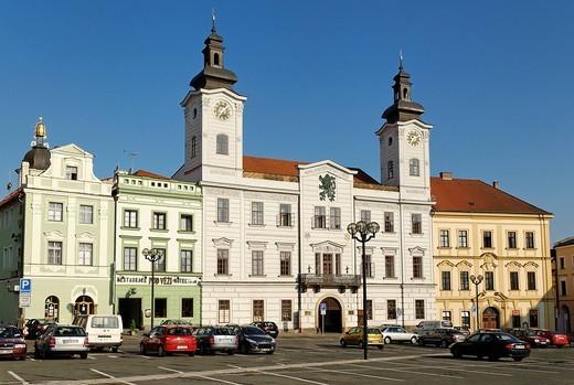 Stock Photo: 1848-92072 Historic centre of Hradec Kralove, Koeniggraetz, East Bohemia, Czech Republic, Czechia, Europe