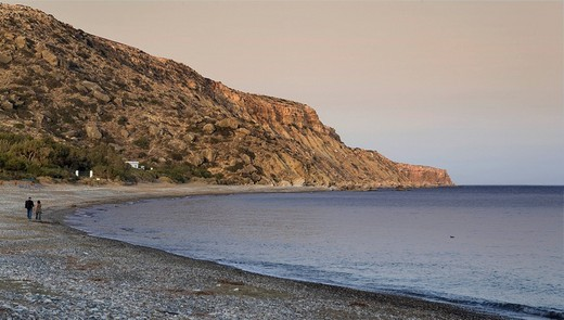 Evening mood at Pissouri Beach, southwestern coastline, Southern Cyprus, Cyprus, Europe : Stock Photo
