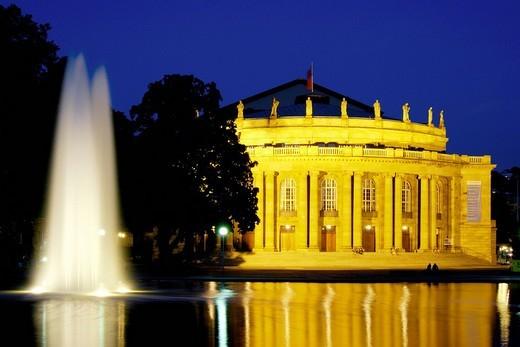 Stuttgart National Theatre, Staatstheater, state opera, Stuttgart, Baden_Wuerttenberg, Germany, Europe : Stock Photo