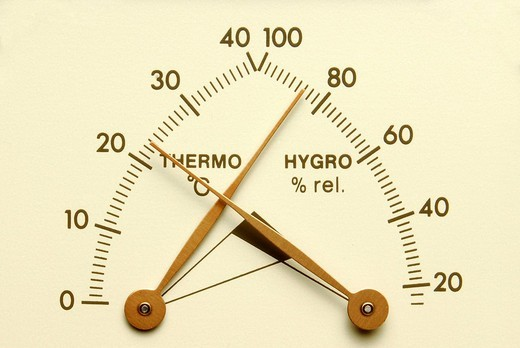 Temperature display : Stock Photo