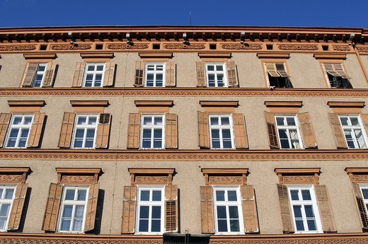 Stock Photo: 1848-93088 Housefront, Kaiser Franz Josef Kai, Graz, Styria, Austria, Europe