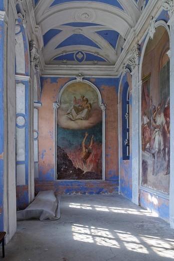 Frescoes, Assumption Cathedral, Goritsky monastery, Pereslavl_Zalessky, Russia : Stock Photo