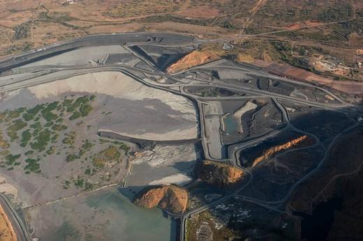 Argyle diamond mine, aerial view, Kimberley, West Australia, Australia : Stock Photo