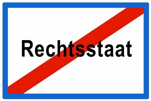 Signboard, Austrian town sign, end of town, Leaving Constitutional State : Stock Photo