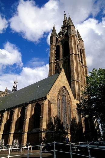 Stock Photo: 1848-94782 De Oude Kerk, church in the style of late Gothic, Delft, Province of South Holland, Zuid_Holland, Netherlands, Benelux, Europe