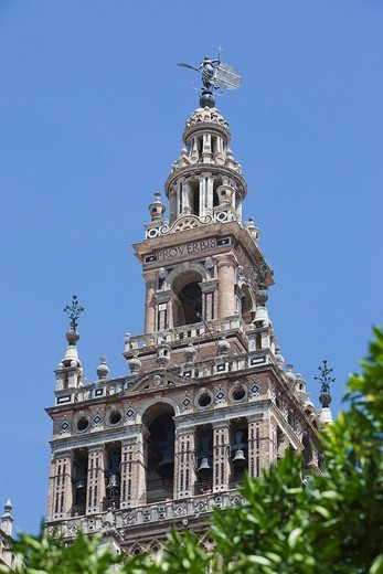 Stock Photo: 1848-95068 La Giralda, Tower of Seville Cathedral, Andalusia, Spain, Europe