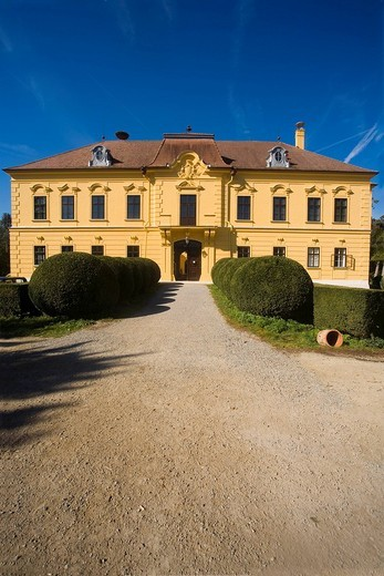 Stock Photo: 1848-95240 Eckartsau castle, Marchfeld, Lower Austria, Austria