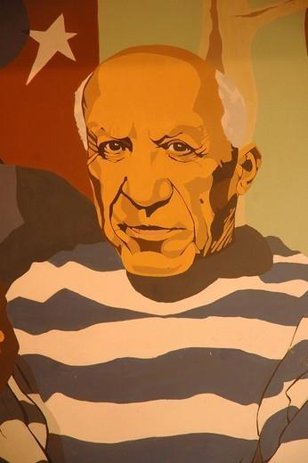 The catalan painter: Pablo Picasso. Barcelona , Catalonia , Spain , Europe : Stock Photo