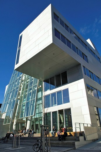 Academy of Fine Arts, new building by Coop Himmelblau, Munich, Bavaria, Germany : Stock Photo