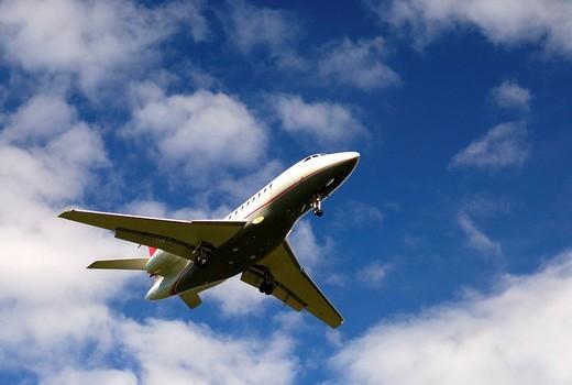 Stock Photo: 1848-95388 Private jet Dassault Falcon 2000