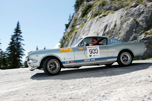 Ford Mustang Fastback, vintage car, year of construction 1965, Ennstal_Classic 2007, Austria : Stock Photo