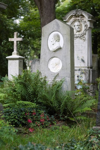 Stock Photo: 1848-96094 Grave of Johann Georg von Dillis, 1759_1841, landscape painter, landscapist, Alter Suedfriedhof, old cemetery in Munich, Bavaria, Germany