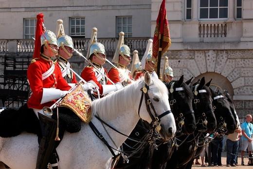 Royal Cavalry, London, England, Great Britain, Europe : Stock Photo