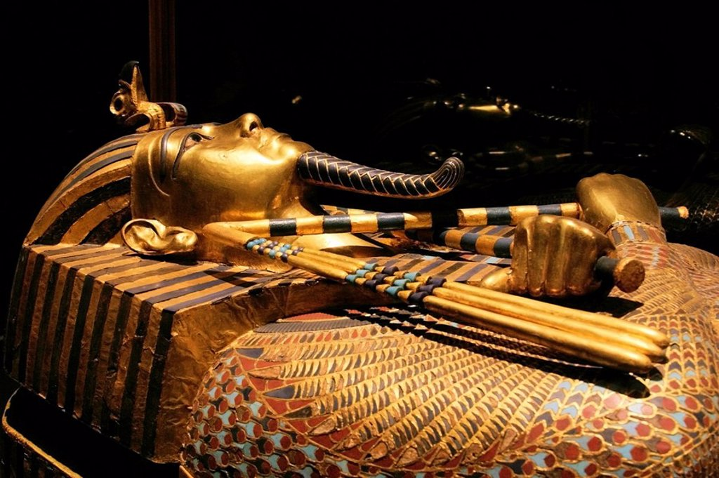 Stock Photo: 1848-96473 Tutankhamun´s sarcophagus, Egypt, Africa