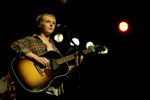 The British folk_pop singer Laura Marling live at the Schueuer venue, Lucerne, Switzerland : Stock Photo