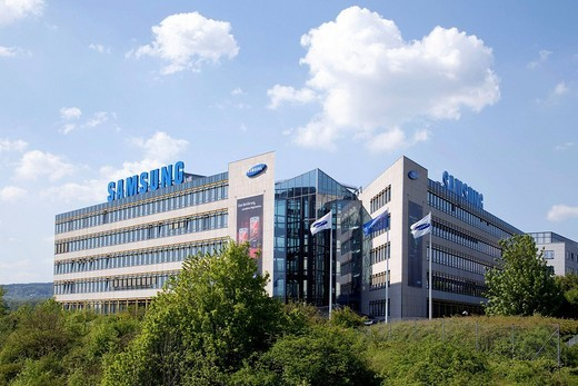 Samsung Electronics GmbH company headquarters in Germany Schwalbach, Hesse, Germany, Europe : Stock Photo