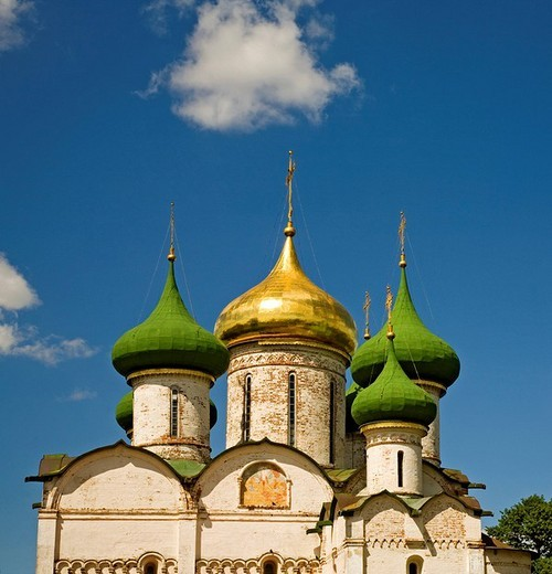 Transfiguration cathedral, St. Euthymius Monastery, Suzdal, Russia : Stock Photo