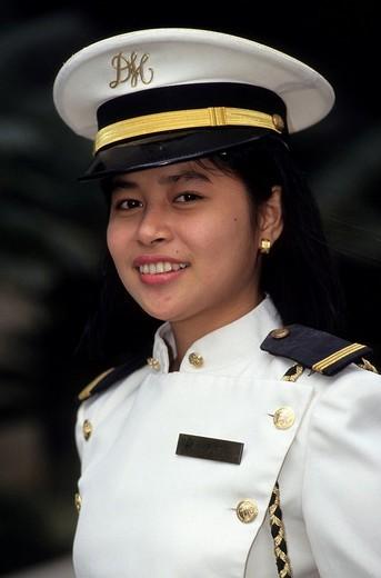 Female page, Manila Diamond Hotel, Manila, Philippines : Stock Photo