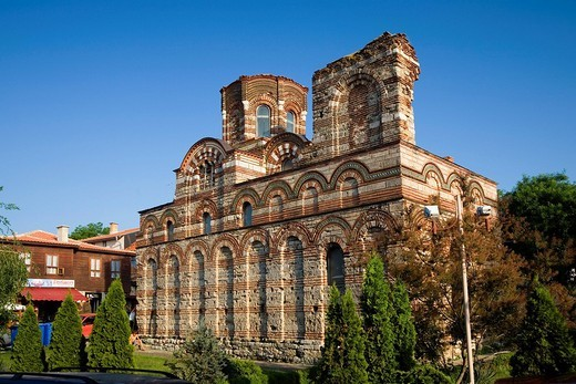 Jesus Christ Pantocrator church, Nesebar, Black Sea, Bulgaria : Stock Photo