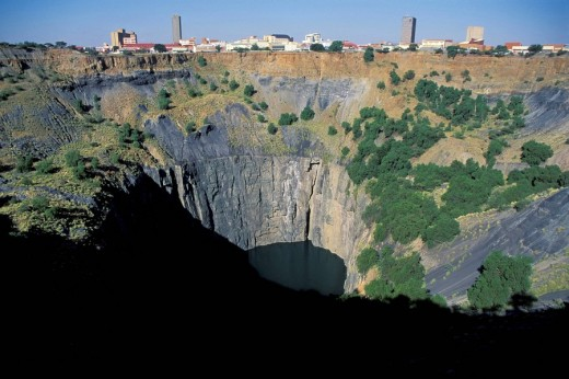 Stock Photo: 1848R-275248 Kimberley Big Hole diamond mine South Africa
