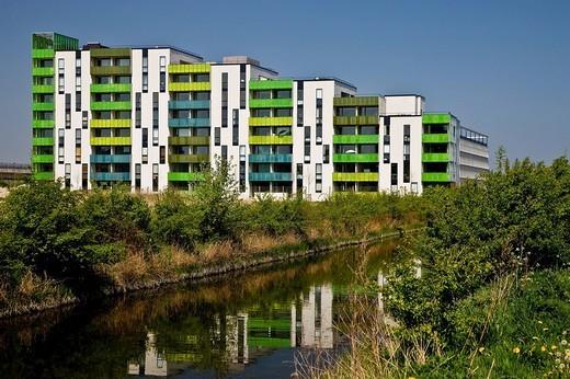 Stock Photo: 1848R-275955 Colourful high_rise block, Copenhagen, Denmark