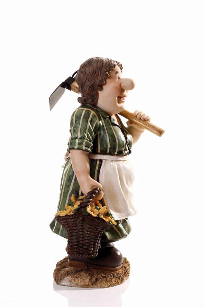 Stock Photo: 1848R-276746 Decorative farmer´s wife figure