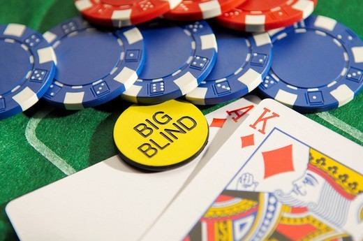 Stock Photo: 1848R-278395 Texas Hold´em Poker Big Blind