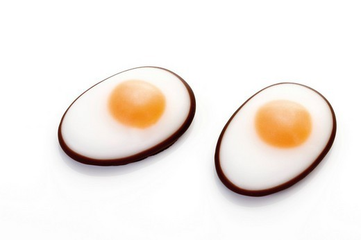 Fondant fried eggs : Stock Photo