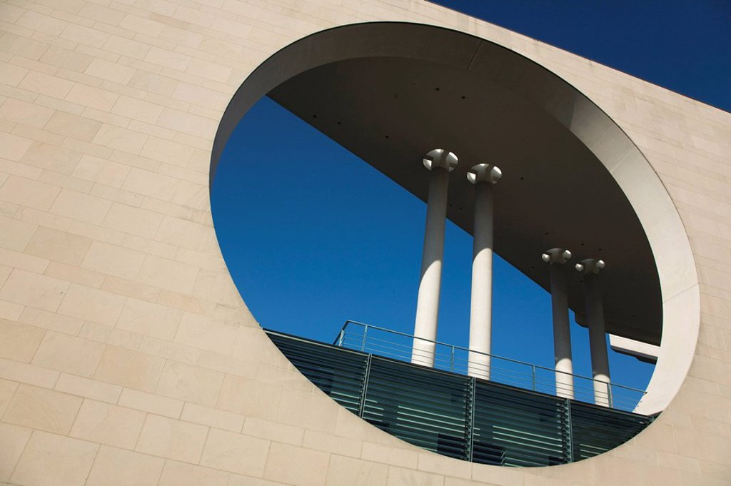 Closeup of the Federal Chancellery in Berlin Mitte, Germany, Europe : Stock Photo