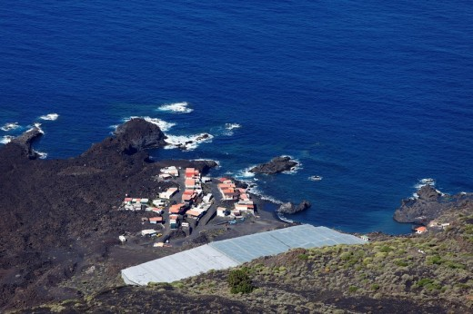 Punta Larga and Casas del Morrón near Fuencalienta, La Palma, Canary Islands, Spain, Europe : Stock Photo