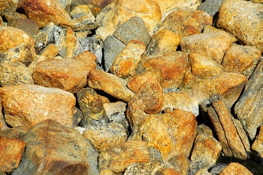 Stock Photo: 1848R-279253 Rust brown coloured rocks granit Eastgreenland