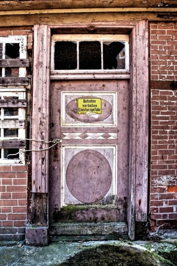 Old front door : Stock Photo