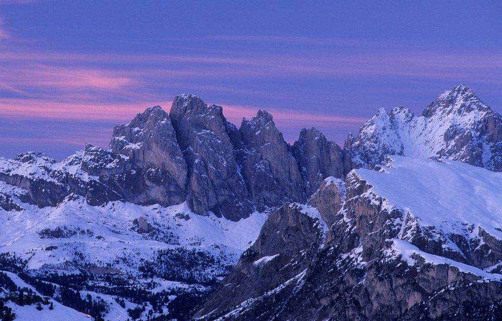 Stock Photo: 1848R-281837 Dolomites in late evening light, Bolzano-Bozen, Italy, Europe