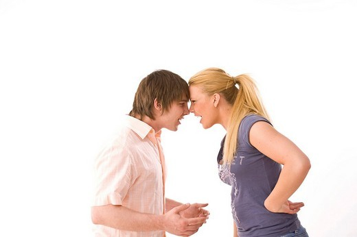 Stock Photo: 1848R-282177 Young couple arguing
