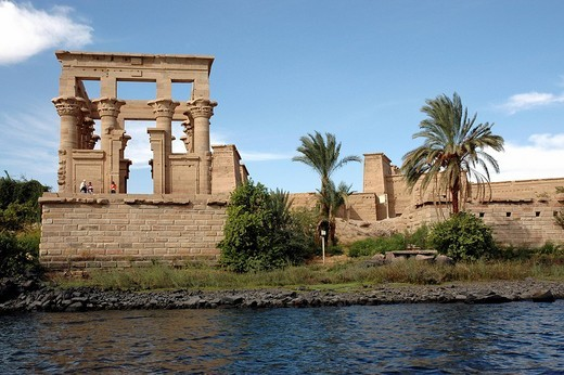 Temple of Philae, Trajan´s Kiosk, Egypt, Africa : Stock Photo