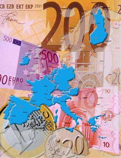 Euro in Europe : Stock Photo