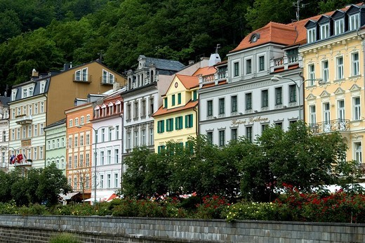 Stock Photo: 1848R-287343 Spa centre Carlsbad Karlovy Vary Czech Republic