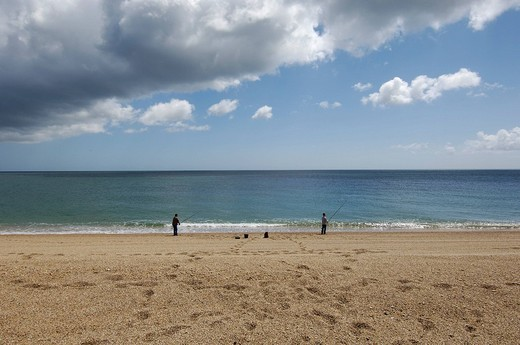 Stock Photo: 1848R-287516 Beach at Slapton Sands south Devon England