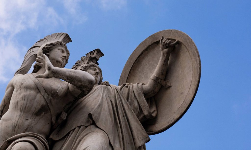 Stock Photo: 1848R-287743 Statue, Schlossbruecke, Palace Bridge, Berlin, Germany