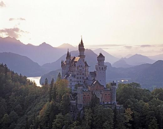 The castle Neuschwanstein near Fuessen Germany : Stock Photo