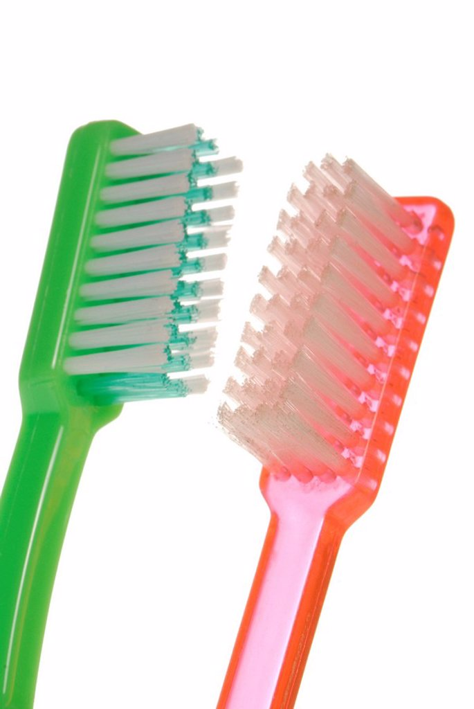 Two toothbrushes : Stock Photo