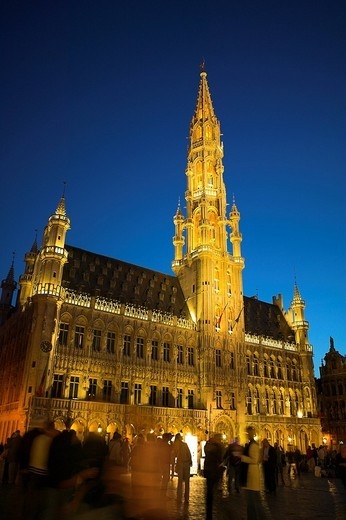 Stock Photo: 1848R-291302 Belgium / Brussels, townhall at Grand Place