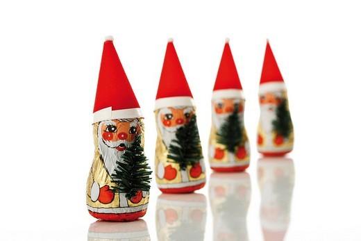 Stock Photo: 1848R-294478 Chocolate Santa Claus