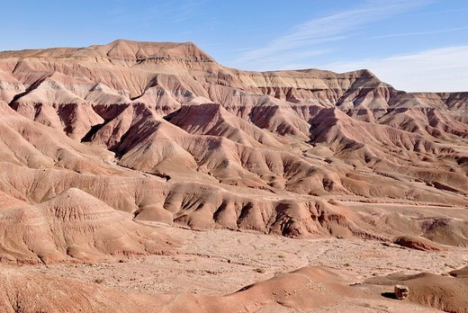 Looking at the hills of the Painted Desert in Tuba City, Highway 160, Arizona, USA : Stock Photo