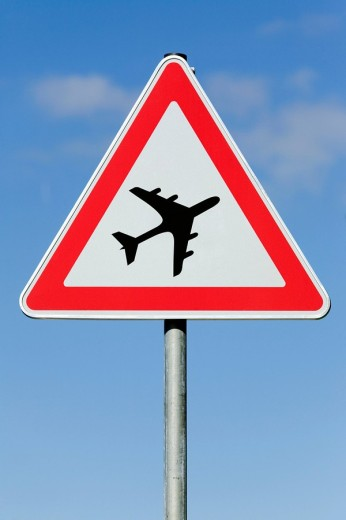 Attention! air traffic : Stock Photo