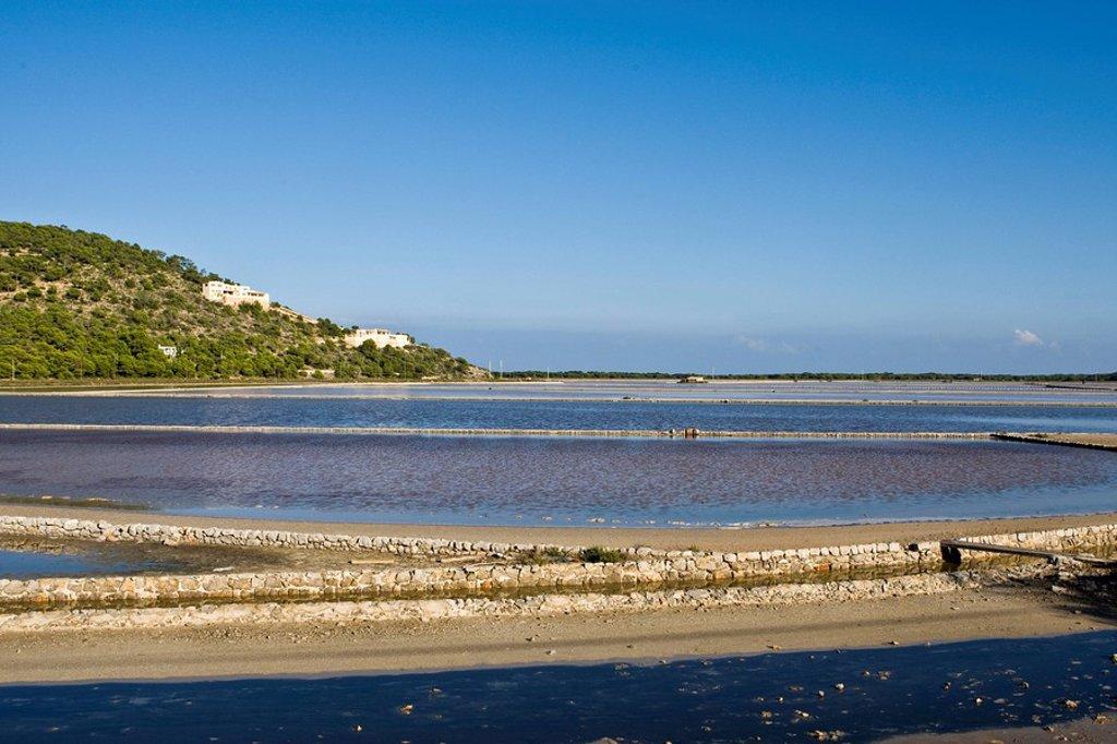 Les Salinas, Ibiza, Baleares, Spain : Stock Photo