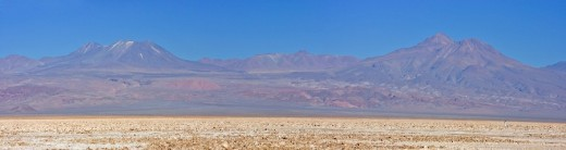 Stock Photo: 1848R-296294 Lascar Volcano 5154 m or 16909 ft viewed from the Reserva Nacional los Flamencos at the Salar de Atacama salt flats, Región de Antofagasta, Chile, South America