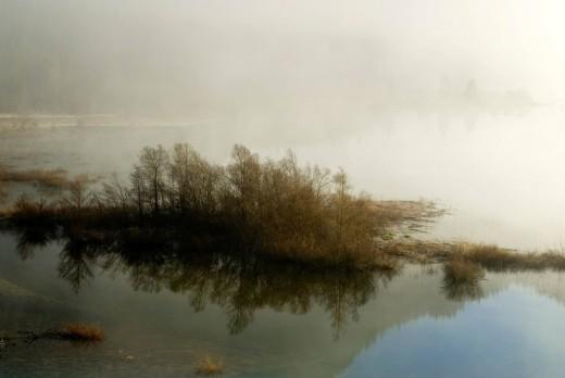 Upper Isar River, Bavaria, Germany, Europe : Stock Photo